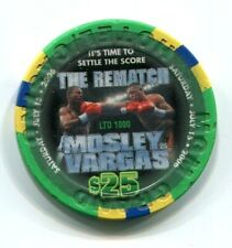 """New listing Casino Chip $25 Mgm Grand """"The Rematch"""" July 15, 2006 Mosley vs. Vargas"""
