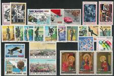 SAN MARINO - Annata completa 1987 (26 val.) nuovi