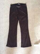 Zara Womens Trousers Bnwot Brown Leopard Size M