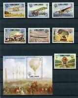 Sao Tome e Principe MiNr. 830-36 A + Bl 127 A postfrisch MNH Flugzeuge (FZ5036