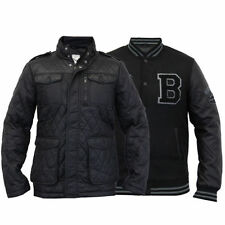 Brave Soul Popper Quilted Coats & Jackets for Men