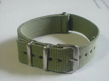 US Army OD Green G10 22mm Military strap band fits ZULU  time watch & others