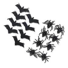 Deko Spinnen 8 cm / Fledermäuse 13 cm Gummi Halloween Party Dekoration Tischdeko