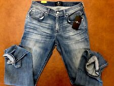 NEW 7 For All Mankind Slim Straight Fit Denim Jeans Size W29 L32 $229