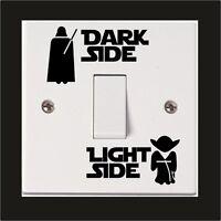 Star Wars Wall Sticker Dark Light Side Switch Vinyl Decal Child Room Lightswitch