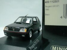 WOW EXTREMELY RARE Peugeot 205 GTi 1.9L 130HP 1990 Black 1:43 Minichamps-504/XR
