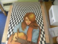 """Vintage Poster """"Girl with Guitar"""" #808 CR 1970 Personality Posters 30x43"""