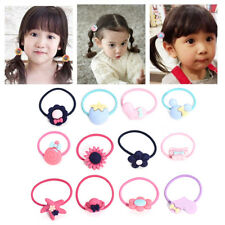 10Pcs Colorful Elastic Rubber Hair Rope baby Band ring Kids Girl Ponytail Holder
