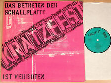 KRATZFEST - Das Betreten der Schallplatte ist verboten (1982 / FOC / LP vg++/m-)