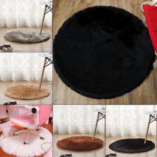 Soft Round Faux Sheepskin Fur Rug Fluffy Wool Carpet Bedroom Living Bedroom Mat