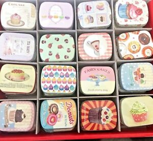 Pill Box Tin Tablet Storage Pill Case Trinket Container cakes CC