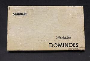 Vintage Black Catalin Dominoes Marblelike Brand Puremco Standard #616