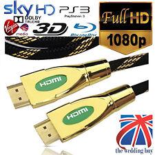 10 Meter GOLD HDMI v1.4A PREMIUM Kabel HDTV 3D 1080P 2160P Full HD Blei Meter