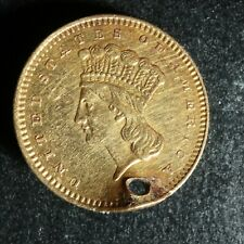 One Dollar 1856 United States of America Gold mounted $1 1$ USA Indian Princess