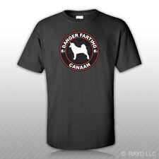 Danger Farting Canaan T-Shirt Tee Shirt Free Sticker dog canine pet