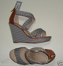 4a3c566ccc37 BNIB BEAUTIFUL MISSONI for TARGET BLACK WHITE WAVE WEDGE SANDALS size 9