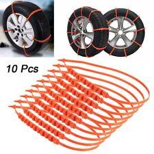 10X Car Anti-skid Snow Tyre Tire Chains Beef Tendon Wheel Nylon Chain Belt NEW