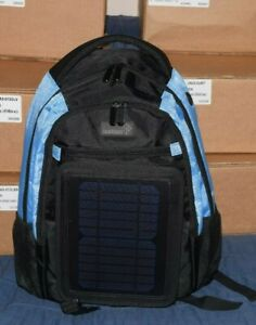 Ivation 3W Solar Backpack with 2200 mAh Waterproof Power bank