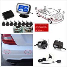 Waterproof 8 Parking Sensors Voice Alert Car Detector Backup Radar Alert System
