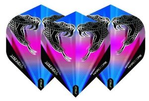 Red Dragon Hardcore Peter Wright Snake Black Transparent Dart Flights 100 Micron