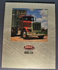 1998-1999 Peterbilt Truck Model 378 Sales Brochure Folder Excellent Original