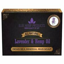 All Natural Dead Sea Mineral Mud Soap Infused With Lavender & Hemp oil