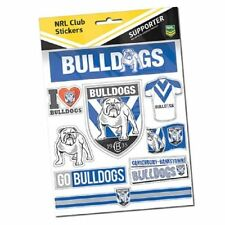 Official NRL Canterbury Bulldogs Deluxe Club Stickers Sticker Sheet Pack