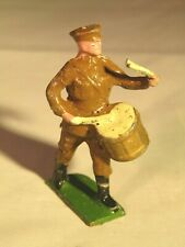 VINTAGE JOHILLCO LEAD TOY WW1 SOLDIER PLAYING DRUM