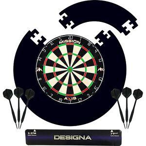 Home Darts Centre Dartboard, Surround, Oche, Darts, Boxed Set Dart Board Bundle