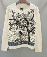 2020 Womens  Designer Inspired Forest Pattern  Embroidery Knitwear Jumper