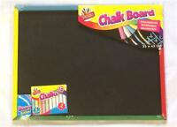 Children's Kids Large Art Chalkboard 10 Chalks & Board Rubber Eraser 33x43cm