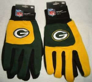 GREEN BAY PACKERS SET OF TWO PAIRS OF SPORT UTILITY GLOVES NEW WITH TAGS