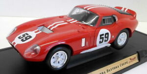 Road Signature 1/18 Scale Diecast - 92408 1965 Shelby Cobra Daytona Coupe Red