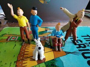 Lot Figurine Tintin Collection PVC BD Dessin Animé Aventure jouet collector toy