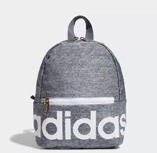 "ADIDAS Unisex Linear MINI Backpack Gray 8.5""H x 10.5""W x 5""D GOLD ZIP NWT"