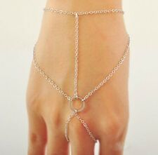 Pop Celebrity Multi Chain Tassel Bracelet Slave Finger Ring Hand Harness