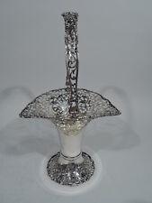 George V Basket - Antique Edwardian Pierced - English Sterling Silver - 1920