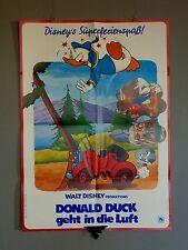 Walt Disney DONALD DUCK geht in die Luft / Comic Film * Original Plakat 1982