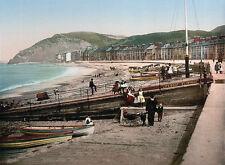 Vintage Edwardian Seaside Photochrome Photo Reprint Aberystwyth 1 A4