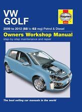 VOLKSWAGEN VW GOLF 1.4 S & 1.6 TDI 2.0 TDI se 2009 - 2012 Haynes Manual 5633 Nuevo