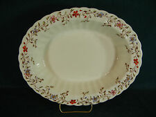 "Copeland Spode Wicker Dale Large 11 1/2"" Oval Serving Bowl"