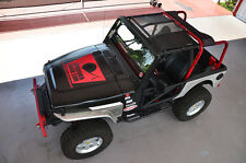 1987-2006 Jeep Wrangler & Unlimited SpiderWebShade TrailMesh TJkini Top Black