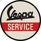 VESPA SERVICE 11.75in ROUND METAL SIGN