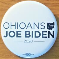 Ohioans For Joe Biden  2020  Campaign Button From Ohio Democratic Party