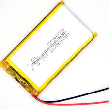 3.7V 2000 mAh  LiPo Polymer Battery Rechargeable 504070 for GPS MP3 MP4 MP5 PSP