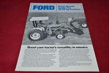Ford Tractor 7209Q Loader Dealer's Brochure YABE15