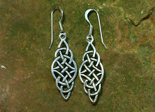 Celtic Earrings Silver Celtic Knots Open 925 Sterling Silver