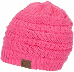 CC C.C Beanie New Women Slouchy Knit Oversized Thick Cap Hat Unisex Slouch Color