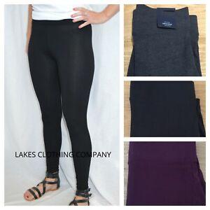 M&S Leggings Black High Rise Full Length High Waist Black Navy Grey Grape 6-18