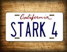 Iron Man License Plate Tony Stark 4 California Auto Tag  6x12 Audi R8 Movie Prop